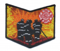 Sagamore Council - Takachsin Lodge 173 Firefighter Pocket Piece Sagamore Council #162