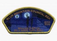FOS 2016 - Do a good turn daily (gold metallic) Blue Mountain Council #604