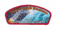 Los Padres Council 2017 Jamboree JSP Red Metallic Border Los Padres Council #53