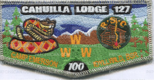 Patch Scan of Cahuilla Lodge 127 - Pocket flap
