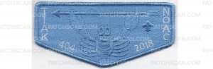 Patch Scan of 2018 NOAC Flap Blue Border (PO 87938)