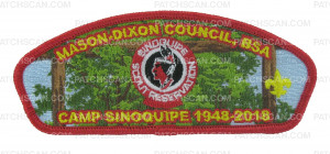 Patch Scan of Camp Sinoquipe 1948-2018 CSP (Camp Entrance)