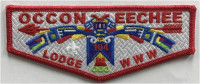Occoneechee Lodge 104 Flap- Weave Background Occoneechee Council #421
