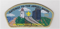 Monmouth Bridge CSP New 2018-Numbered and Gold Metallic Border Monmouth Council #347