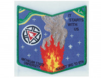 Sakima Lodge NOAC pocket patch La Salle Council #165