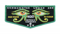 ECHOCKOTEE LODGE 200 FLAP (SECTION S4-CONFERENCE) TEAL  North Florida Council #87