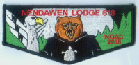NENDAWEN LODGE NOAC FLAP,BLACK Allohak Council #618