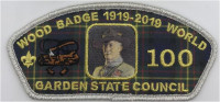Garden State Wood Badge 100th Anniversary CSP Silver Garden State Council #690
