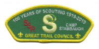 Great Trail Council - 100 years of Scouting Camp Stambaugh CSP REORDER Great Trail Council #433