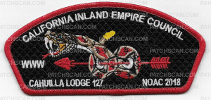 Patch Scan of California Inland Empire Council Chauilla Lodge NOAC