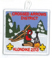 X164793A CROSSED ARROWS DISTRICT KLONDIKE 2013  Pony Express Council #311