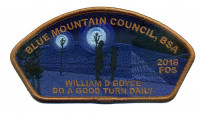 FOS 2016 - Do a good turn daily Blue Mountain Council #604