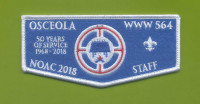 Osceola NOAC 2018 Staff Flap (Felt) Southwest Florida Council #88