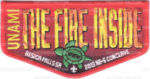 Patch Scan of The Fire Inside 2018 Conclave Flap (Red Border)