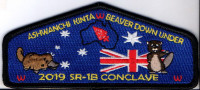 Choctaw Area Council Ashwanchi Kinta Beaver Down Under Conclave SR-1B 2019 Choctaw Area Council #302