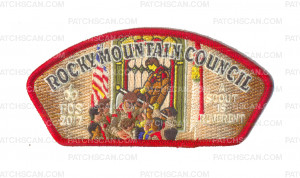 Patch Scan of Rocky Mountain Council 2017 FOS A Scout is Reverent