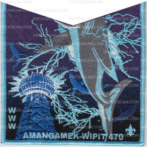Patch Scan of Amangamek-Wipit 470 NOAC 2018 Electric Shark OA Pocket set