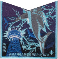 Amangamek-Wipit 470 NOAC 2018 Electric Shark OA Pocket set National Capital Area Council #82