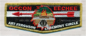 Patch Scan of Ferguson Ceremony Circle Flap Gold