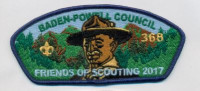Friends of Scouting 2017 Baden-Powell Council #381