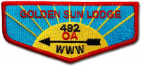 P24439 2018 Golden Sun Standard Lodge Issue Cornhusker Council #324