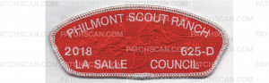 Patch Scan of Philmont CSP Metallic Silver CSP (PO 87749)