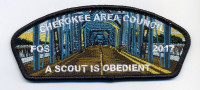 FOS 2017 A Scout is Obedient Cherokee Area Council #469