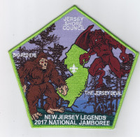 JSC 2017 National Jamboree 6 Piece Set Center Patch   Jersey Shore Council #341