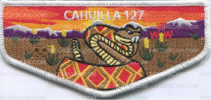 Patch Scan of Cahuilla 127 pocket flap
