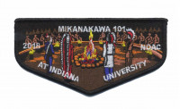 MIKANAKAWA 101 NOAC Flap (Ceremony)  Circle Ten Council #571