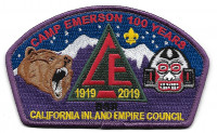 Camp Emerson 100 Years 1919 2019 csp California Inland Empire Council #45