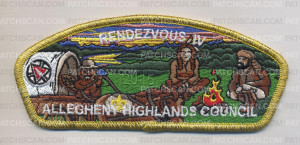 Patch Scan of AHC Rendezvous IV CSP 2015 GOLD METALLIC