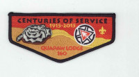 K123681 - QUAPAW CENTURIES OF SERVICE FLAP Quapaw Area Council #18