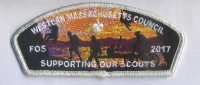 FOS 2017- Supporting our troops- Silver Metallic border Western Massachusetts Council #234