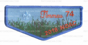 Patch Scan of Timmeu 74 2018 NOAC flap blue border