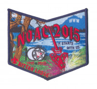 K124074 - Twin Rivers Council - Kittan Lodge NOAC Pocket Piece (Blue) Twin Rivers Council #364