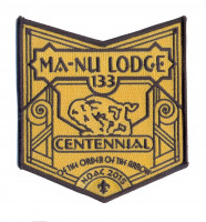 k123146 - LFC MA NU LODGE OA CENTENNIAL POCKET BOTTOM PATCH Last Frontier Council #480
