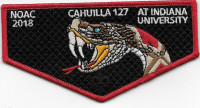 NOAC 2018 Cahuilla 127 Indiana University pocket flap California Inland Empire Council #45