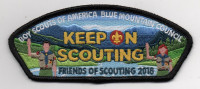 KEEP ON SCOUTING BLACK Blue Mountain Council #604