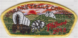 Patch Scan of Moraine Trails Council Philmont 2018 Yellow