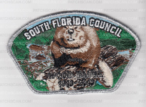 Patch Scan of SO FLA CNCL WOODBADGE BEAVER CSP