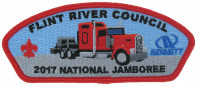 2017 National Jamboree - FRC - Tractor Trailer -  Red Border Flint River Council #95