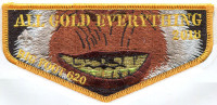 Bigfoot lodge gold everything flap Glacier's Edge Council #620